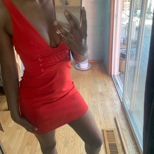Red Zara mini dress